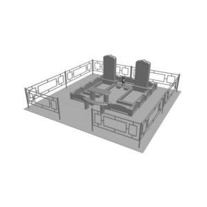 Макет ритуального комплекса размер
