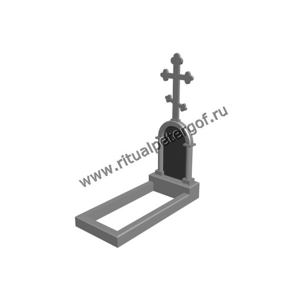 Макет памятника с крестом №1